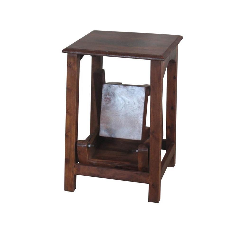 leiter hocker aus massivholz 85x60x40 etnicart. Black Bedroom Furniture Sets. Home Design Ideas