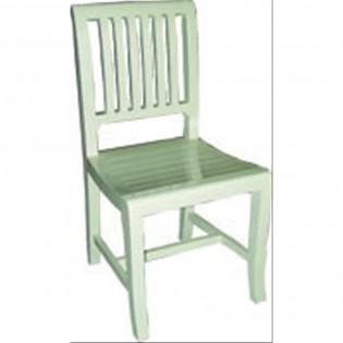 WeiBer Stuhl aus Massivholz
