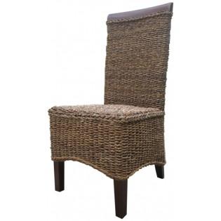 Stuhl aus Mahagoni und Bananenholz