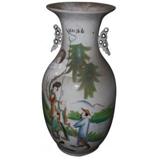 Alte chinesische Vase gemalt