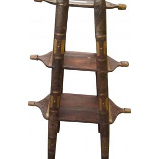 Indiische kleines Bucherregal aus Holz und Eisen