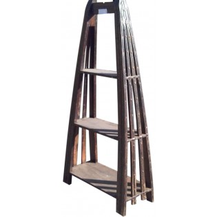Indisch Bucherregal aus Holz und Eisen