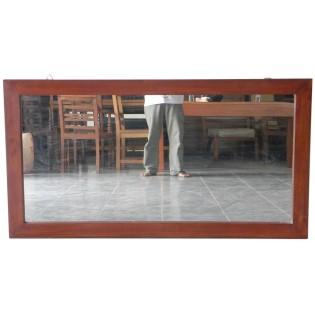 rechteckiger Spiegel aus Mahagoni