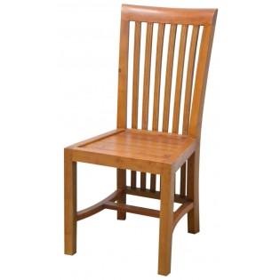 Indonesische Stuhl aus hellem Mahagoni