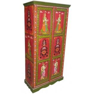 Indische gemalte Kleiderschrank