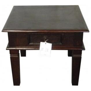 Kleine grune Tisch mit Schublade