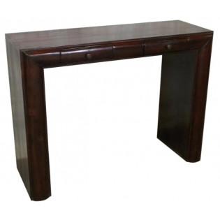 Dunkle Mahagoni-Schreibtisch