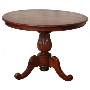 Runder Tisch aus Mahagoni