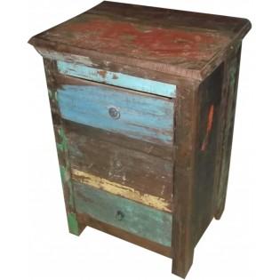 Indische farbige erholte Holznachttisch