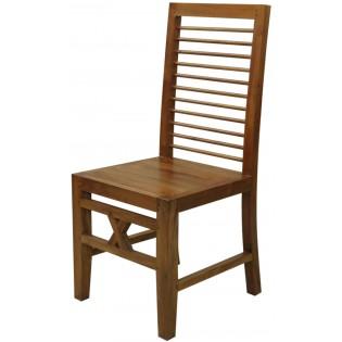 Stuhl aus hellem Mahagoni aus Indonesien