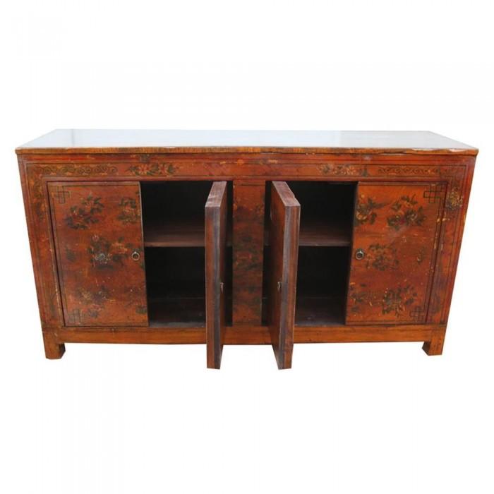 chinesischer schrank mit turen 158x81x43 etnicart. Black Bedroom Furniture Sets. Home Design Ideas