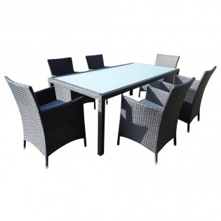 High-quality Chinese dining set in Polyrattan