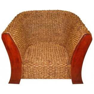 water hyacinth and mahogany armchair