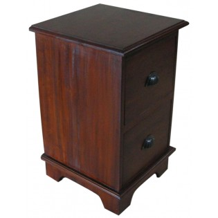2-drawers bedside table in mahogany