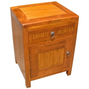 bedside table with drawer and door