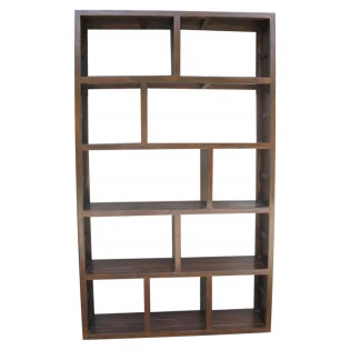 Open bookcase in teak and bamboo