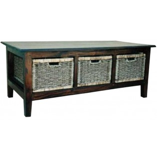 cabinet in mahogany and seagrass