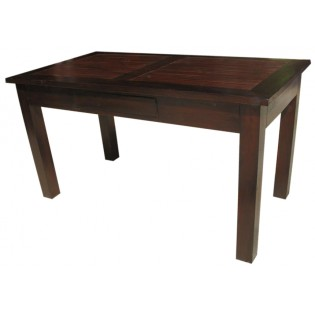Dining table in teak and bamboo
