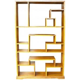 Light ethnic bookcase