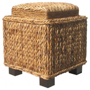 side table-stool with tray in abaca