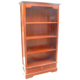 2-drawers mahogany bookcase