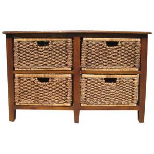 mahogany furniture and water hyacinth