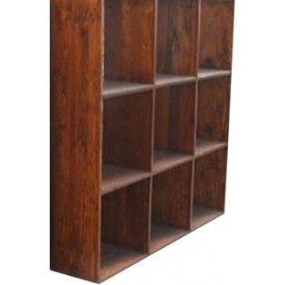Open square bookcase with 9 shelves