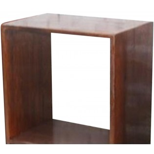Natural wood one-piece module