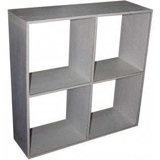 small open white bookcase