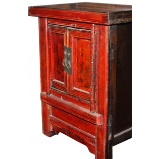 Antique bedside table decorated
