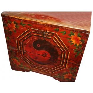 Antique decorated trunk