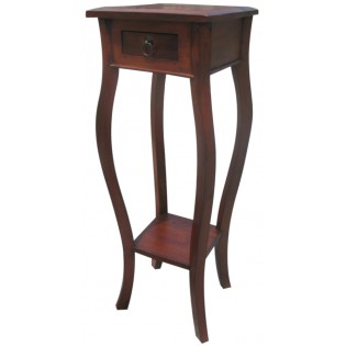 high mahogany bedside table with drawer