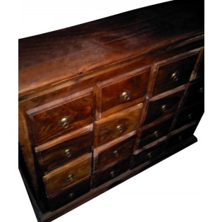 Indian teak chest of drawers