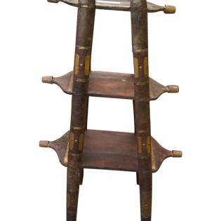 Indian small bookcase in wood and iron