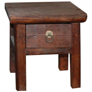 antique stool with drawer