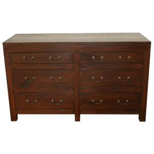 dark mahogany chest of drawers