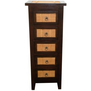 chest of drawers with bamboo inserts