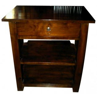 Indonesian mahogany bedside table