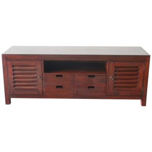 Indonesian TV cabinet in mahogany
