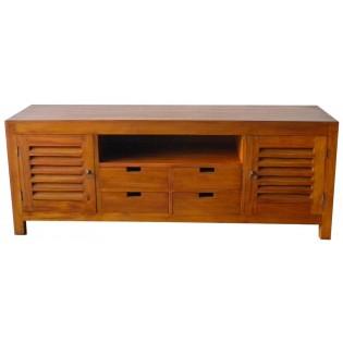 TV unit in light mahogany