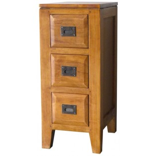 3-drawers nightstand in light mahogany