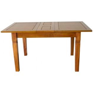 Square expandable light dining table