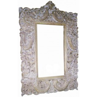 Antique frame with gilded inlay works