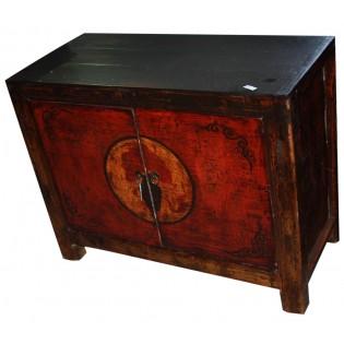 Antique 2-doors cabinet in pine wood