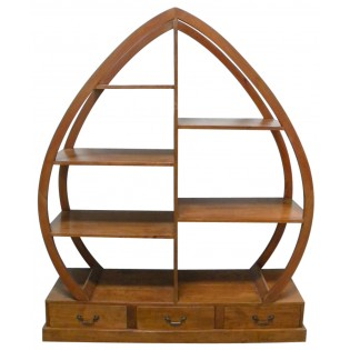 Light bookcase in leaf style