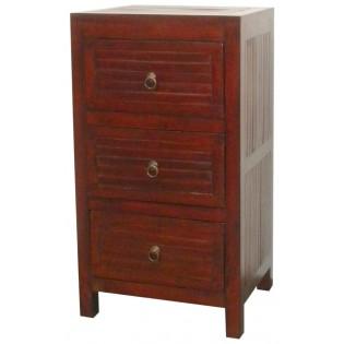 3-drawers dark bedside table
