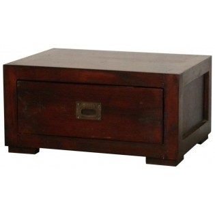 Dark nightstand with one drawer