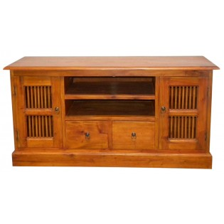 Light TV unit with drawers and doors