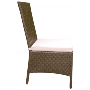 High-quality outdoor seat with aluminum structure and covered in Polyrattan