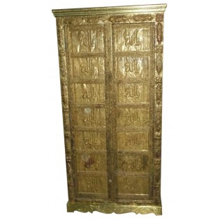 Indian cabinet with brass inserts